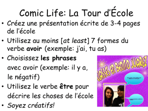 IB French I Comic Life Expectations