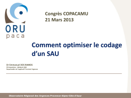 Comment optimiser le codage d`un SAU