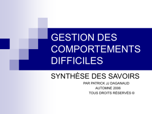gestion des comportements difficiles