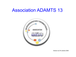 Association ADAMTS13-2009 - Cnr-mat