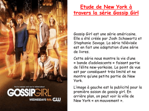 Etude de New York à travers la série Gossip Girl
