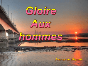 GLOIRE AUX HOMMES.pps