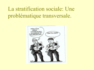 4. La stratification sociale