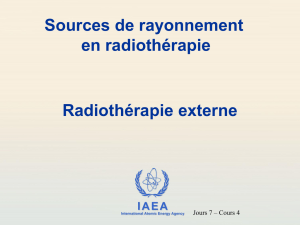 Accélérateur linéaire (suite) - International Atomic Energy Agency