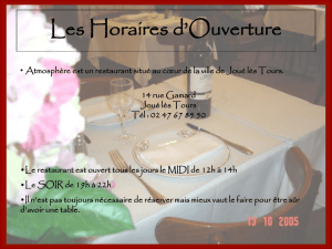 Description du Restaurant - restojoue
