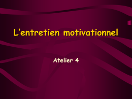 L`entretien motivationnel