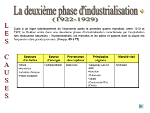 La 2e phase d`industrialisation