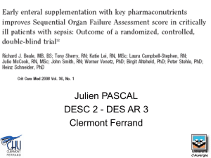 Beale. Early enteral supplementation with key pharmaconutrients