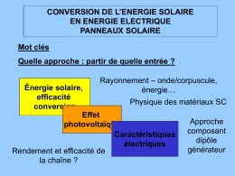 RENDEMENT DE LA CONVERSION