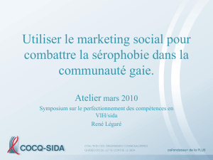 Le marketing social - COCQ-Sida