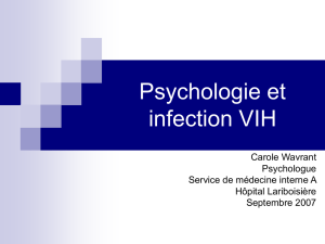 Psychologie et infection VIH