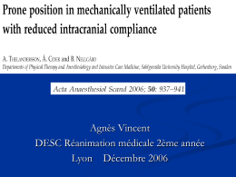 Prone position in mechanically ventilated patients with reduced