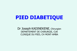 LE PIED DIABETIQUE DEFINITION