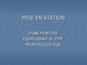 mise en station - Astro-Club Orion