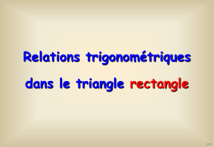 Relations trigonométriques dans le triangle rectangle