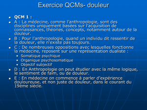 QCM 2 : en anthropologie