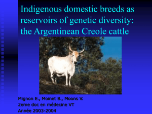 Indigenous domestic breeds as reservoirs of genetic diversity: the