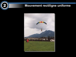 Mouvement rectiligne uniforme (MRU)