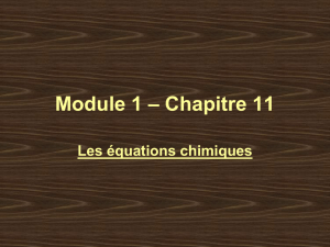 + H 2 - Chimie 11