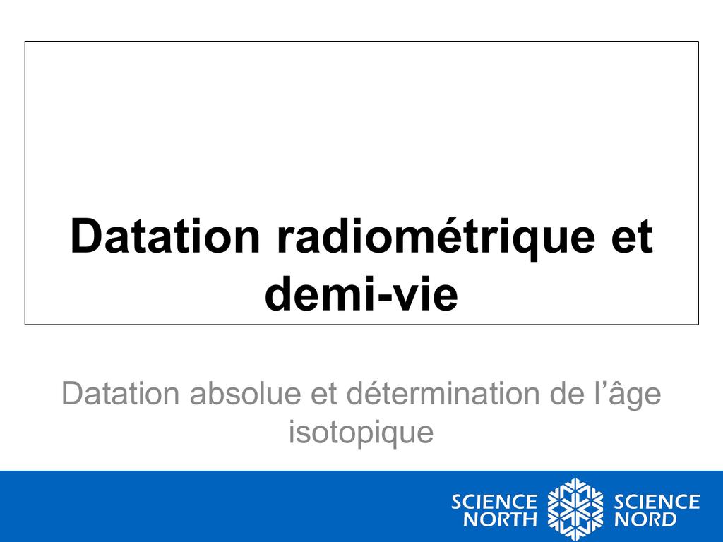 datation radiométrique relative rencontres batteurs