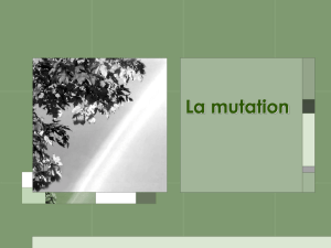 La mutation - Le Site Web de Jeff O`Keefe