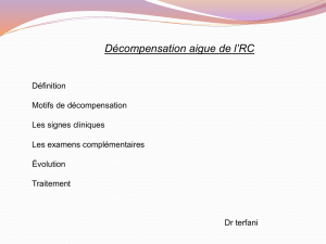 Décompensation aigue de l`RC