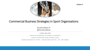 Commercial Business Strategies in Sport