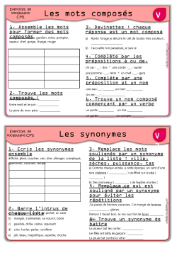 1 Relie Les Mots Synonymes