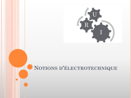 Notions d*électrotechnique