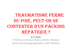Traumatisme ferme du foie, Peut-on se contenter d`un packing