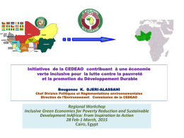 Regional Workshop Inclusive Green Economies for Poverty