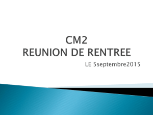 REUNION DE RENTREE
