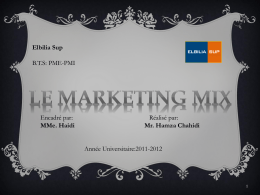 1 èr marketing mix (suite)