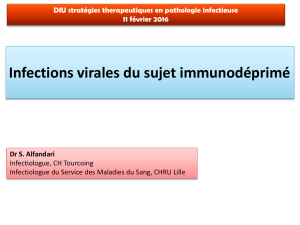 Infections virales de l`immunodéprimé. - Infectio