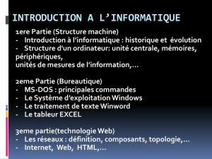 Introduction a l`informatique