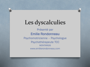 Les dyscalculies