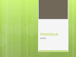 Mosaique Notes for blog