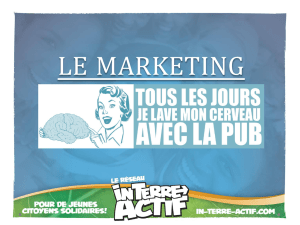 Le marketing - Réseau In-Terre