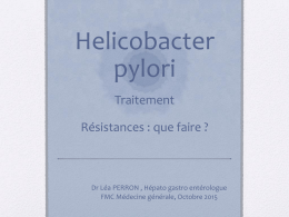 infection helicobacter pylori traitement