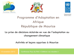 PowerPoint Presentation - Africa Adaptation Programme