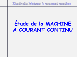 Machine à courant continu