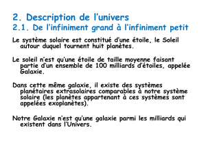 2. Description de l*univers 2.1. De l*infiniment grand à l