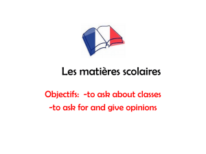 French 2 Matieres PowerPoint