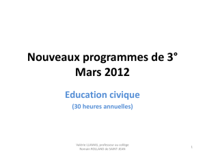 Education civique - La Défense ()
