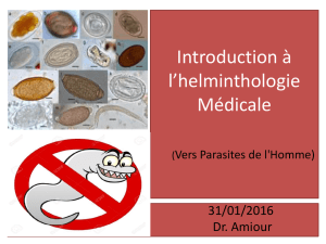 Introduction à l*helminthologie Médicale