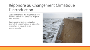 Responding to Climate Change Introduction