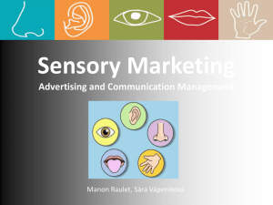 Sensory Marketing Advertising and Communication - AUEB e