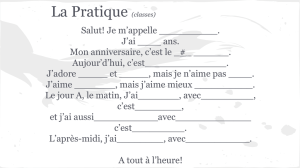 La Pratique (classes)