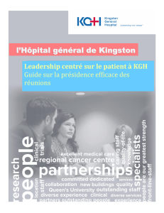 Kingston General Hospital Patient Centred Leadership