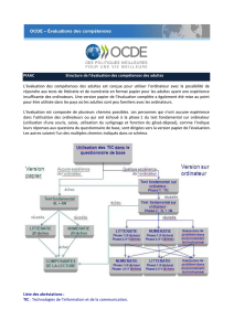 Structure de l`évaluation